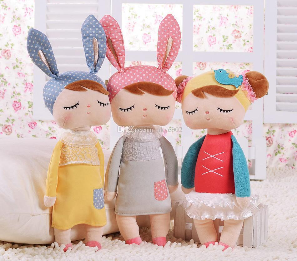 HOT Metoo reborn babies Novelty lovely Cartoon Animal Design Stuffed Plush Toy Cute Doll for Kids Birthday / Christmas Gift 34CM