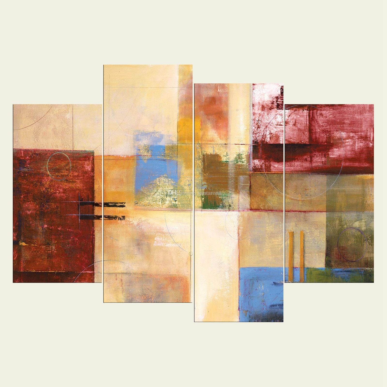 Compre Sin Marco Serie De Arte Abstracto Hd Impresión En Lienzo 4 ...