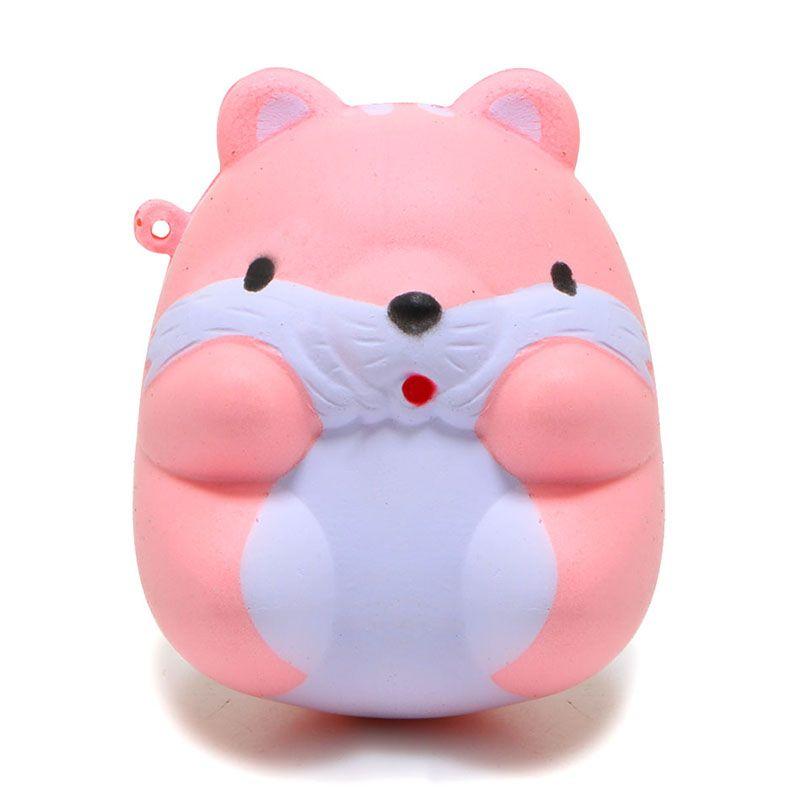 Ibloom Cake Roll Squishy : 2018 8cm Kawaii Cartoon Animal Squishy Ibloom Mini Hamster Phone Pendant Sweet Scented Bread ...