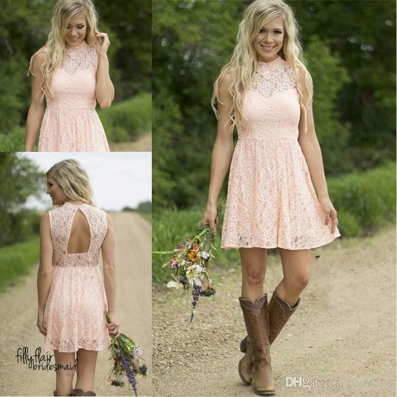 Short Lace Western Dresses