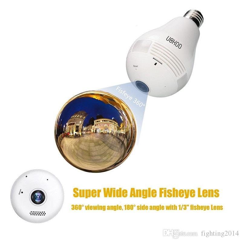 HD WIFI führte Birnen-Kamera GLOBE Panorama Cam 360-Grad-Glühbirne P2P-IP-Kamera Bewegungserkennung Alarm Zweiweg communictaion
