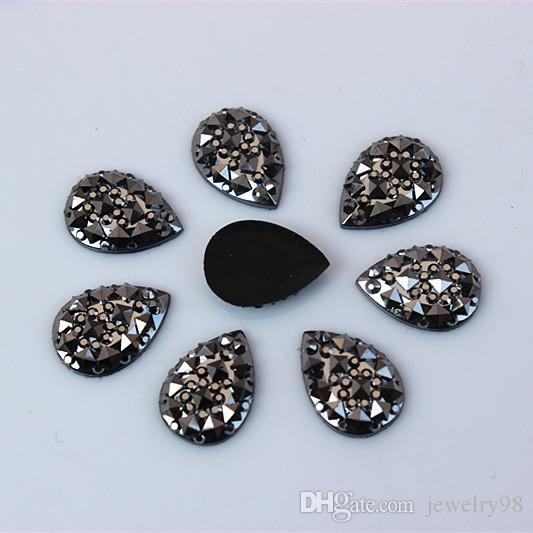 100 STÜCKE 10 * 14/13 * 18/18 * 25mm Birne Harz Strass Kristall Drop flatback Perlen Scrapbooking handwerk Schmuck Zubehör ZZ381 ZZ184