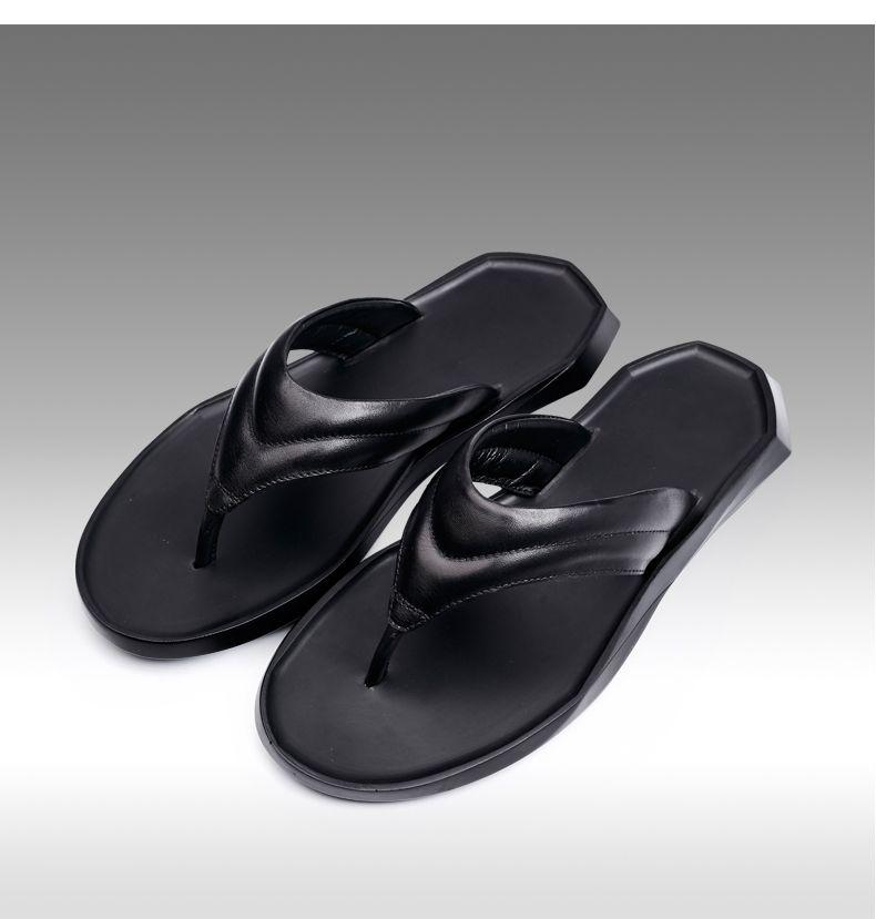 0a7c97cbd Men S Flip Flops Genuine Leather Slippers Summer Fashion Beach Sandals Shoes  For Men Hot Sell Black Comfortable Shoes Shoe Shops From Gorgeous Shop