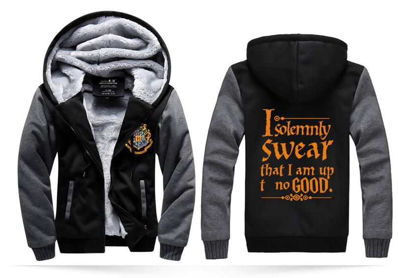8562ef02 Wholesale- funny hoodies I Solemnly Swear- That I Am Up To No Good funny  men sweatshirts 2016 winter fleece men's sportswear hipster coat