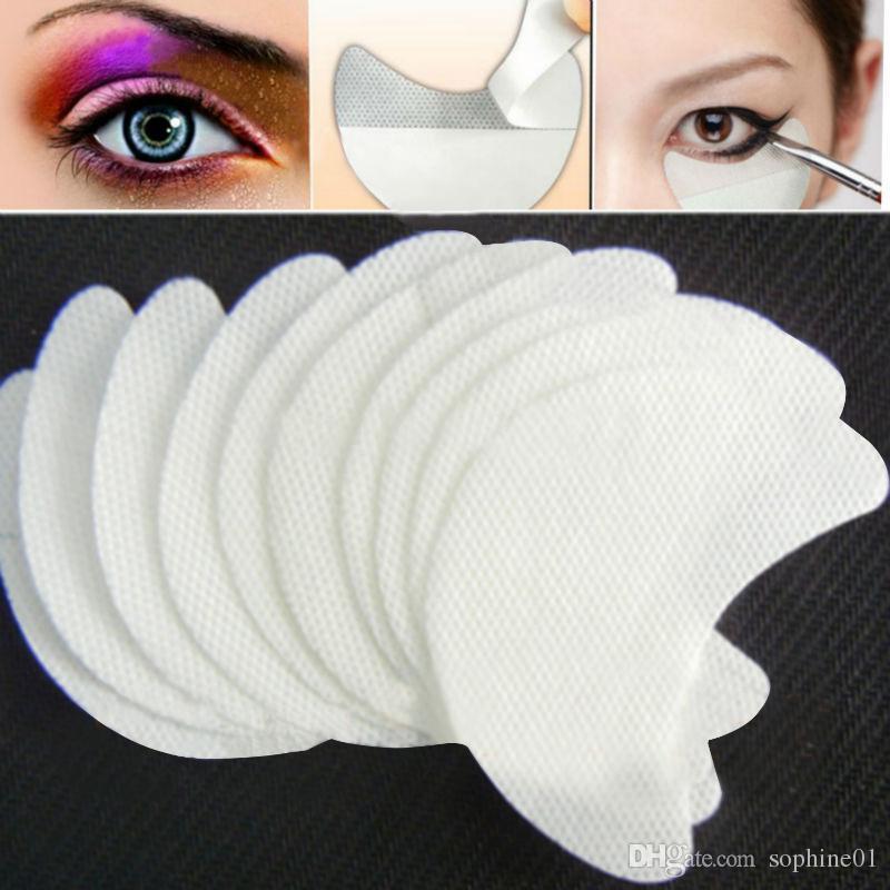 Оптовая Бесплатная доставка 100 пар / лот одноразовые тени для век щиты площадку для идеального макияжа глаз приложение красоты глаз Shadow Shields