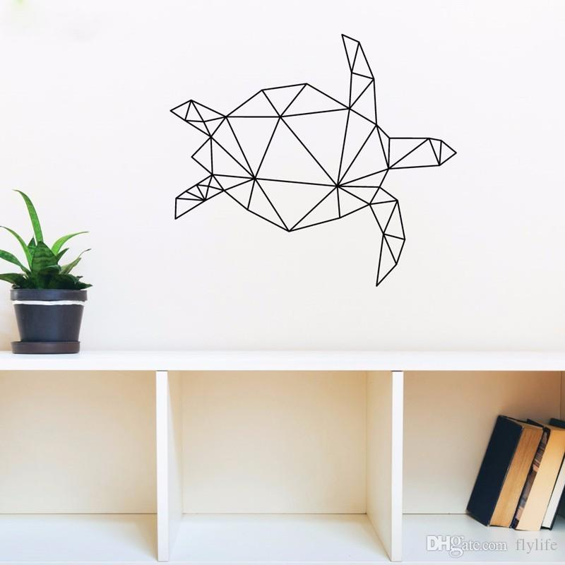 Geometric Animal Turtle Vinyl Wall Art Stickers Creative Wall Decor For  Livingroom Bedroom Various Color Offer Drop Shipping Walls Stickers White  Tree Wall ... Part 50