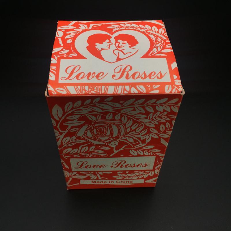Love Rose Glasröhre Farbige Glaspfeifen Ölplattform Wasserpfeife Pfeife Handpfeife mit Plastikblumen für Tabak Bong Shisha