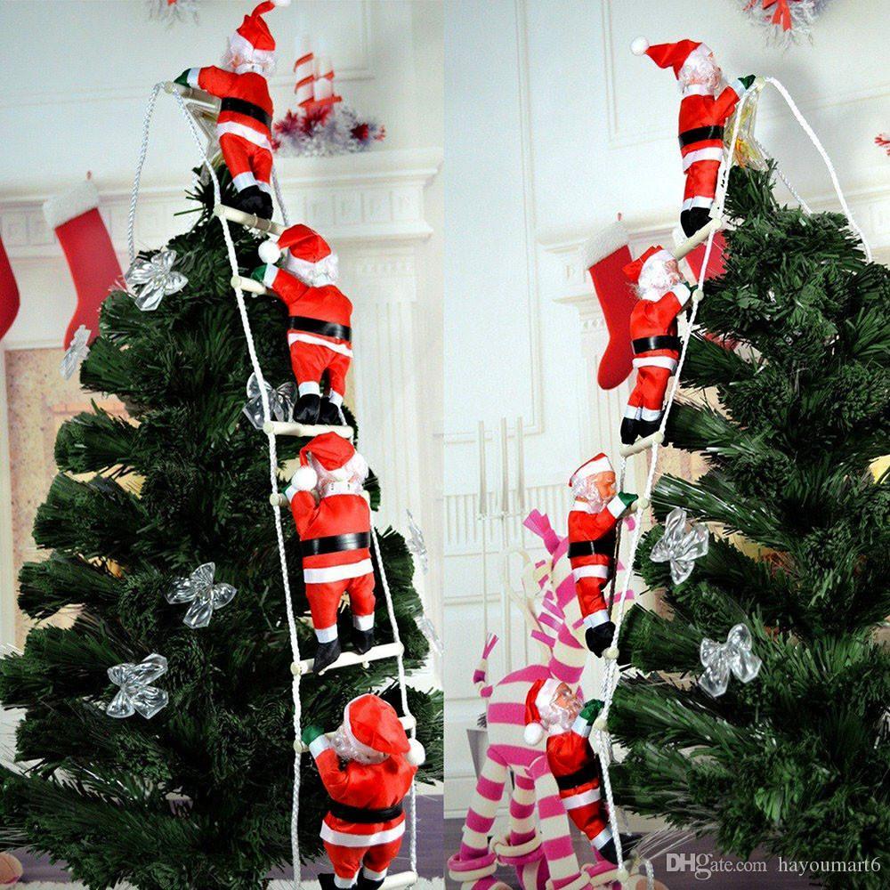 1 satz weihnachtsmann weihnachten leiter weihnachtsfeier dekorationen weihnachten spielzeug baum hause kinder geschenke neue jahr geschenk