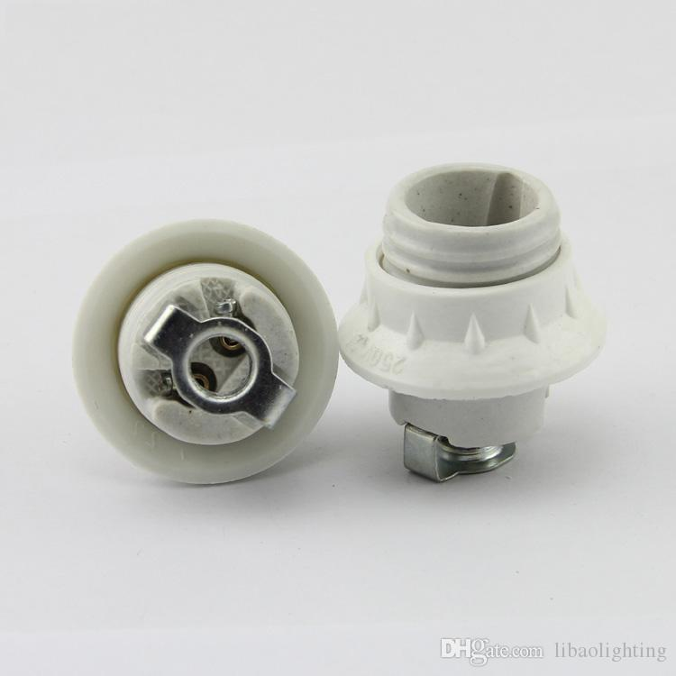 E14 or E27 full ceramic lamp resistantce to high temperature screw-mount lamp base lamp holder with m10 bracket