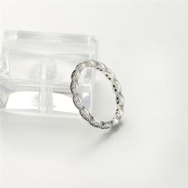 Anéis deixa S925 Sterling Silver venda se encaixa para pulseira estilo pandora e encantos de jóias para as mulheres Frete Grátis Rip105H9