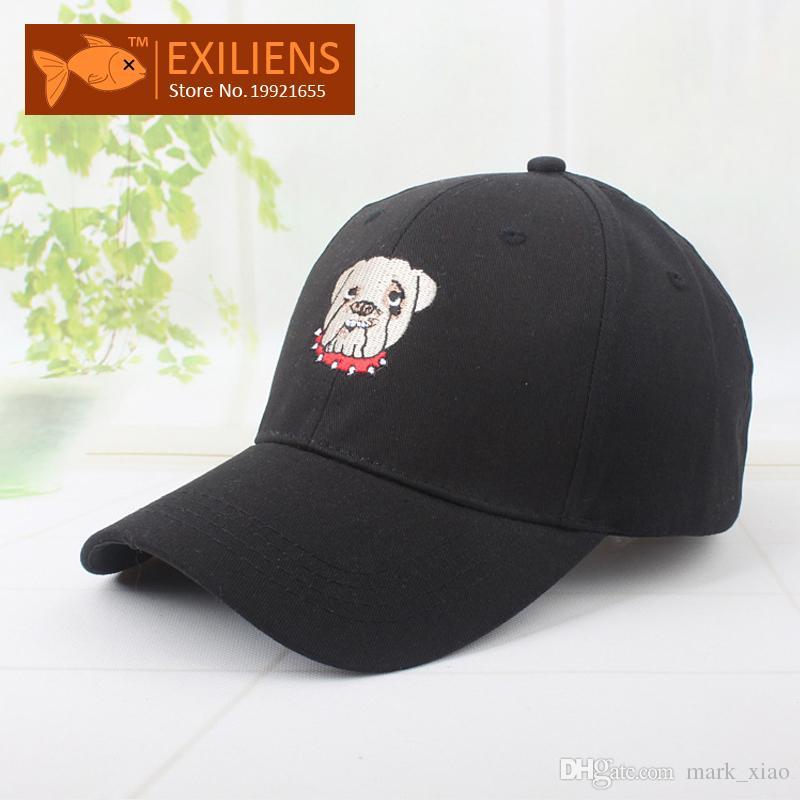4e57e2c8107 EXILIENS Fashion 2017 Brand Baseball Cap Cotton Top Quality Big DOG ...