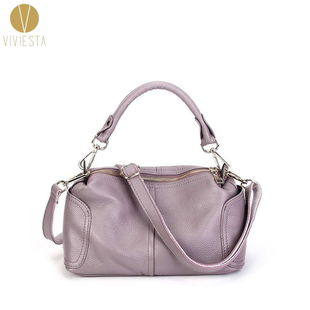 Wholesale- REAL LEATHER SHOUDLER BOSTON BAG - Women s Fashion Casual Soft  Cowhide Genuine Leather Crossbody Bowler Tote Hobo Bag Handbag Bag Toy  Handbag ... 249d2c78eb2e9