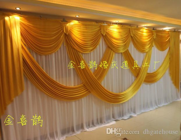 2019 High Quality Wedding Backdrops Curtain With Luxurious
