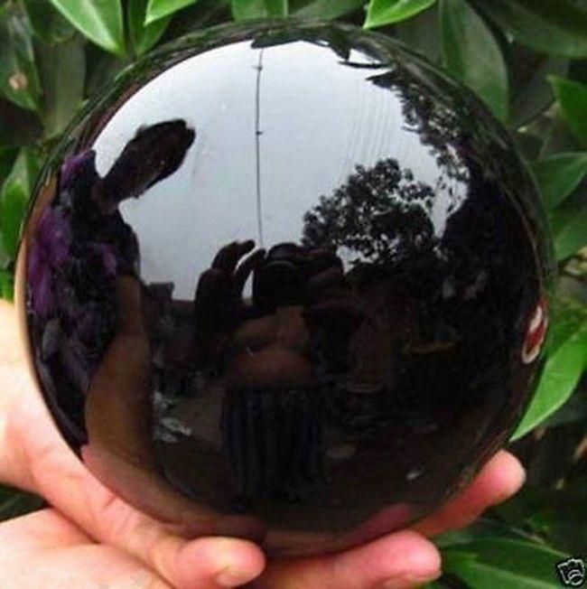 60 MM Doğal Siyah Obsidian Küre Kristal Top Şifa Topu