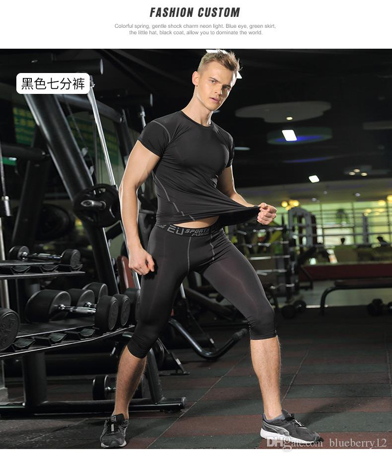 Sportwear мужские компрессионные штаны спортивные бегущие колготки баскетбол тренажерный зал штаны для бодибилдинга бегуны трусцой леггинсы брюки