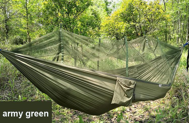 Yeni Paraşüt Anti Cibinlik Hamak Plaj Çadır Kamp Uyku Hamak Taşınabilir Açık Eğlence Asılı Yatak ağaç çadır