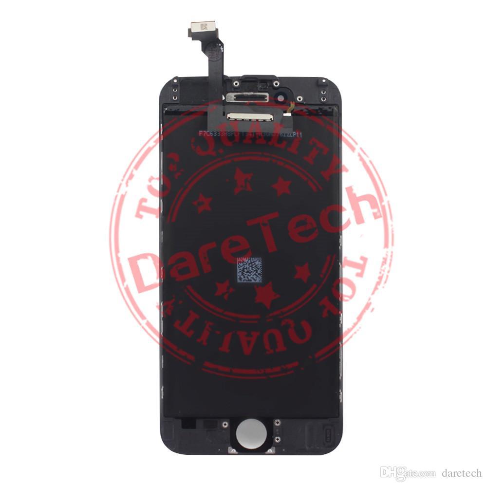 Sostituzione LCD di vetro nero Touch Screen Digitizer Assembly iPhone 6 con accessori DHL spedizione gratuita