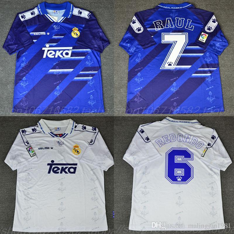 94 95 96 Retro Soccer Jersey Real Madrid  7 Raul  9 Zamorano  6 ... 02b8f61e749fd