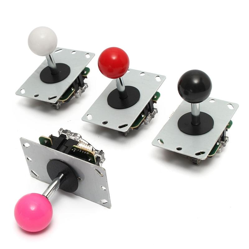 DIY Handle Arcade Set Kits 5 Pin Joystick 24mm/30mm Push Buttons Replacement Parts USB Cable Encoder Board To PC Joystick&Button