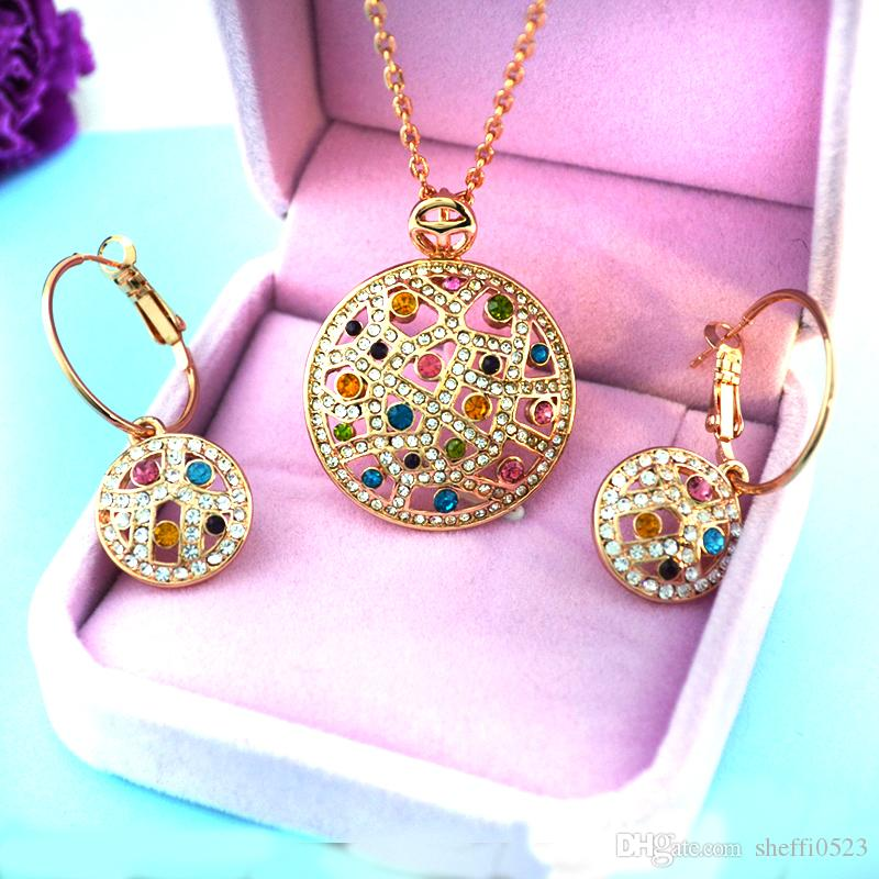 Fashion crystal earrings jewelry, the new version of the Korean version of the true rose gold color drill Waltz Waltz Earrings 008-93
