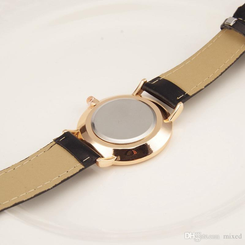 Geneva of The Ultra Thin Belt Two Pin Male Ladies Watch Casual Student Reloj de cuarzo