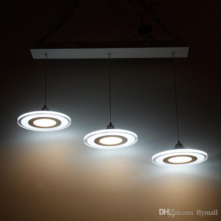 Modern Led Pendant Lights Round Wheel Cord Lamp Dining Room Lustres 110-240V Chandelier Lights for Kitchen LED Ceiling Fan Hang Fixtures