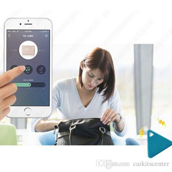 1 stück dreieck anti-verlorene sensor alarm mini drahtlose smart gps locator bluetooth tracker finder itag für kinder haustiere tasche brieftasche schlüssel