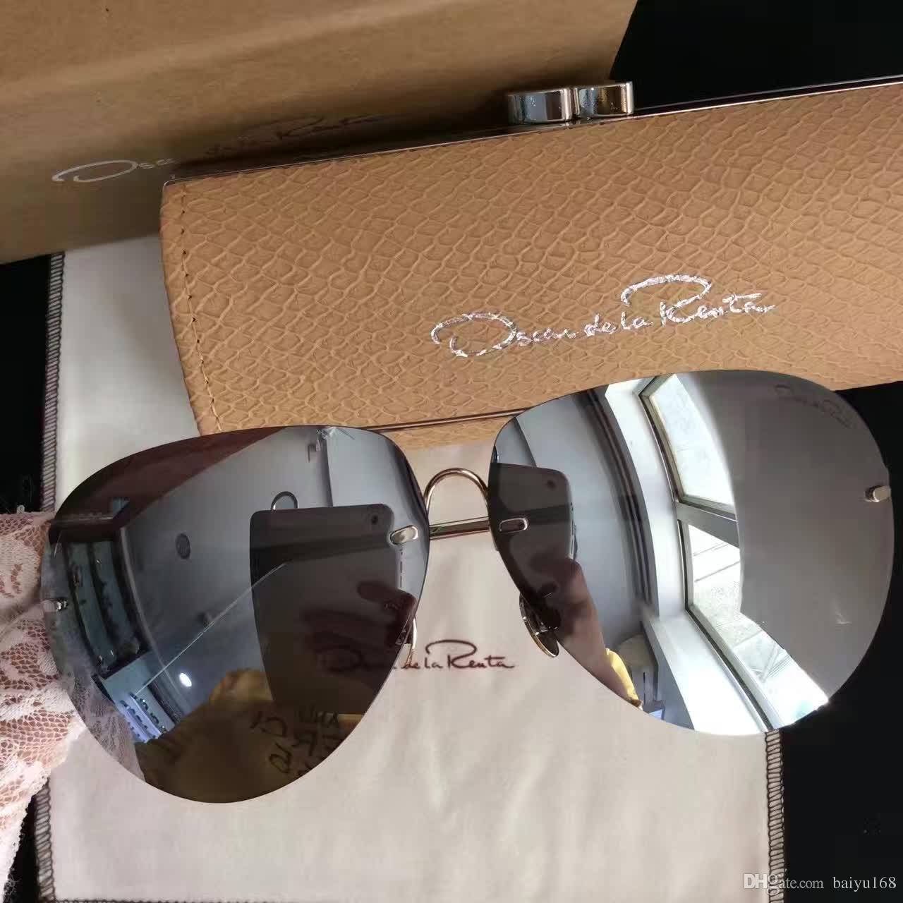 d4d8d1f086 2017 Designer Linda Farrow X Oscar De La Renta Sunglasses Silver ...