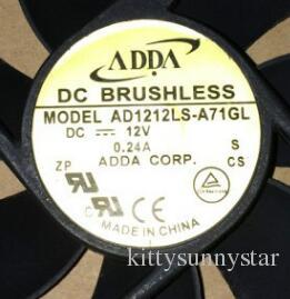 ADDA 12025 12CM 12V 0.24A AD1212LS-A71GL 2Wire 냉각 팬