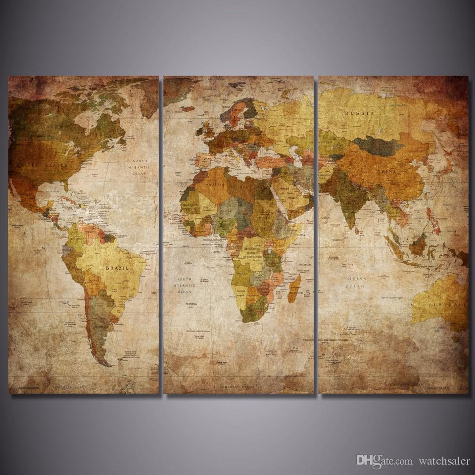 2017 hd printed vintage world map painting canvas print room decor 2017 hd printed vintage world map painting canvas print room decor print poster picture canvas print framed from watchsaler 3806 dhgate sciox Gallery