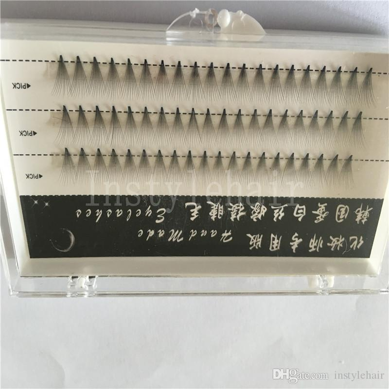 10mm 10 hairs /Cluster Individual Eyelash Cluster High Quality Knot Free Individual False Fake Eyelashes Extensions