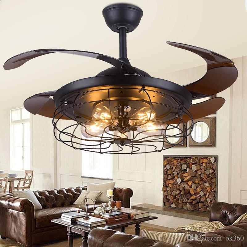 Best 42 Inch Edison Light Bulb Village Folding Ceiling Fans With Lights Classical Loft Living Room Fan Lamp Under 472 62 Dhgate