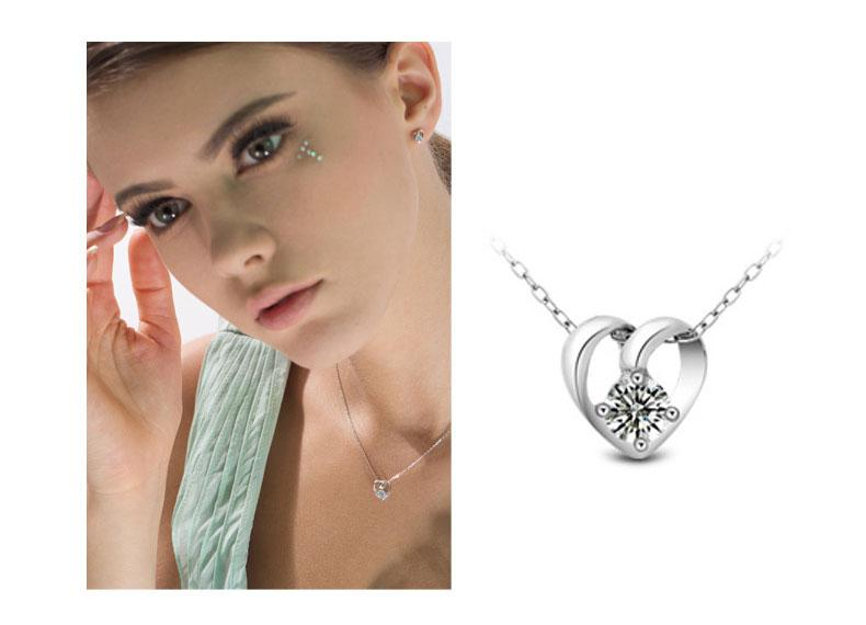 New 925 sterling silver necklace pendant fox Dolphin love with crystal pendants chain necklaces High quality Jewelry