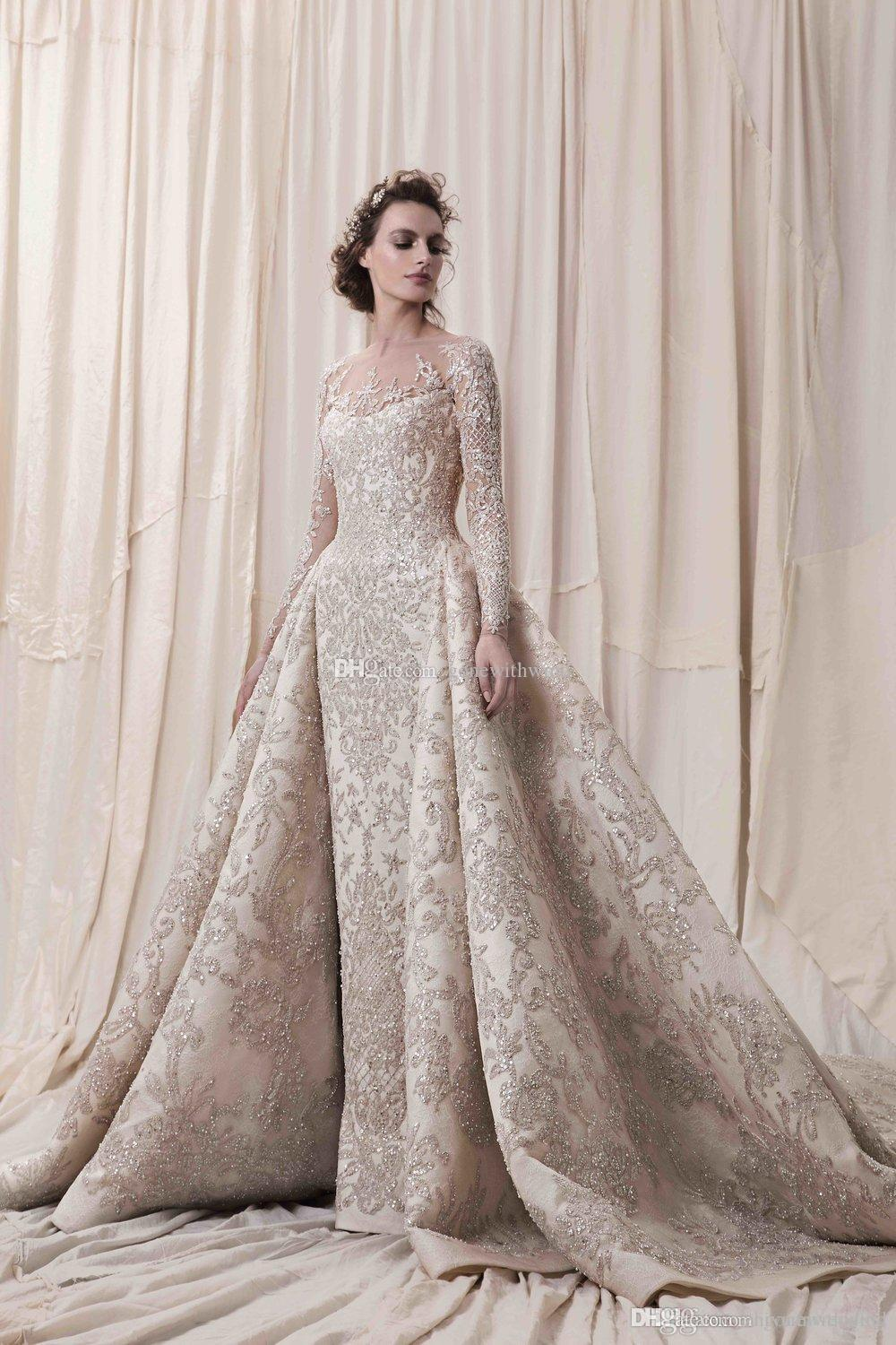 Lace beaded wedding dresses dhgate