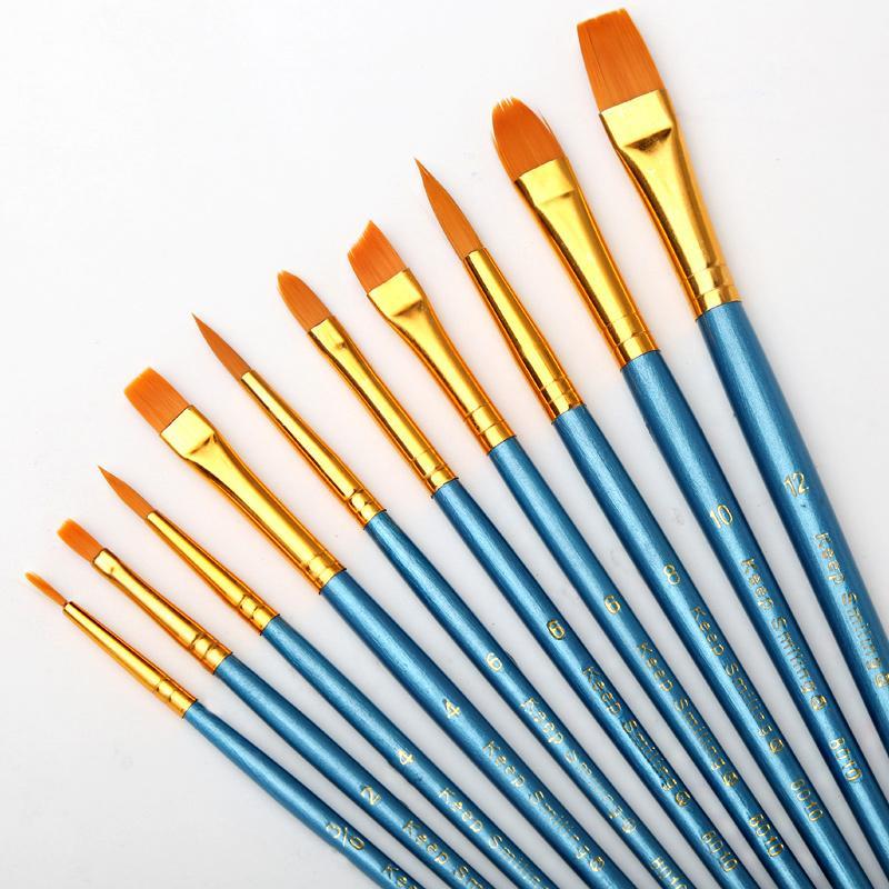 Satın Al 10 Adet Takım Suluboya Guaj Boya Fırçaları Farklı şekil