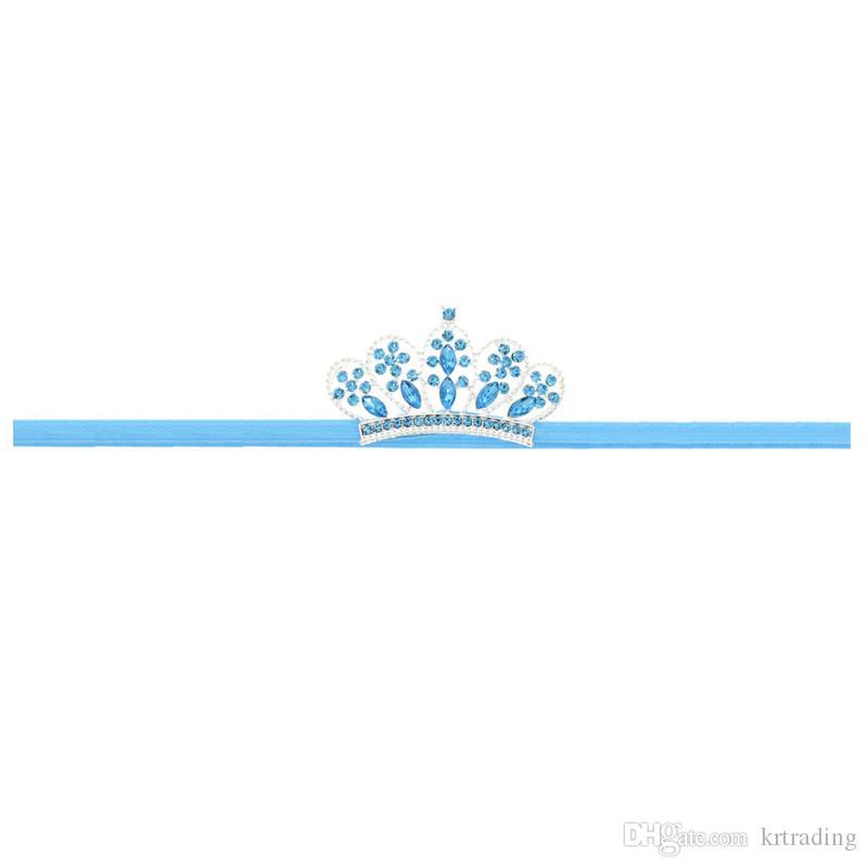 Детские девушки Rhinestone корона оголовье детские эластичные Hairband детей шикарные волосы аксессуар для дня рождения партии праздники фото реквизита