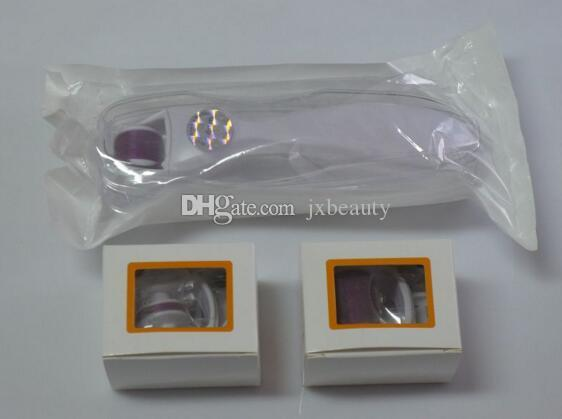 Drop ship 3 in 1 Derma Roller kit,3 separate roller heads of different needle count 180c 600c 1200c micro needle skin roller