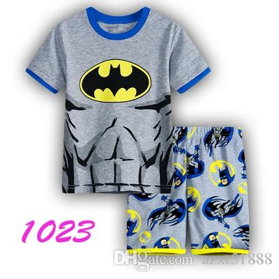 Children's pajamas set summer short sleeved boy pyjamas girls cartoon home clothes kids sleepwear clothes Nightwear homewear