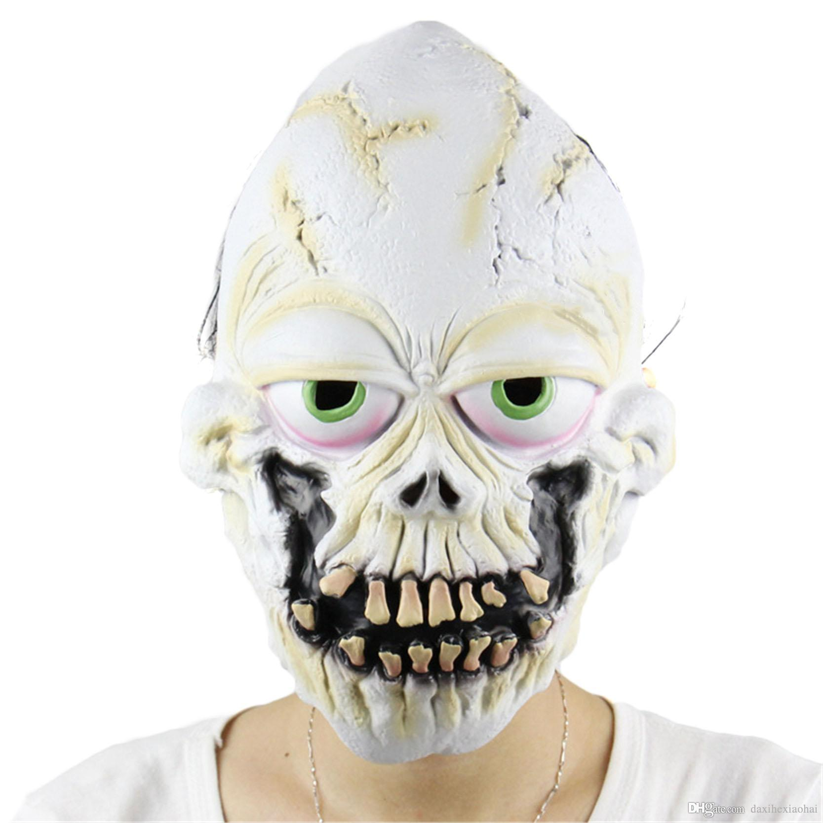 new fun buck teeth skull scary mask clown latex masks cosplay costume for party halloween foolu0027s day masquerade masks halloween costumes masquerade masks