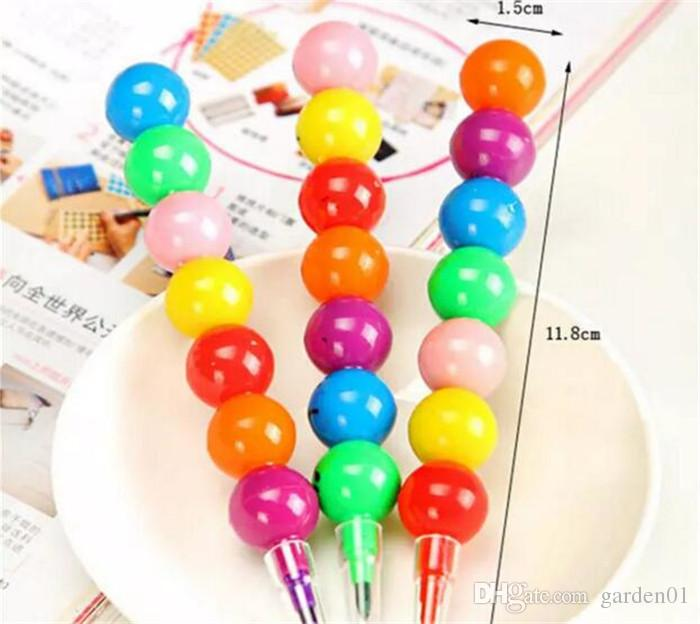 Stationery Colorful WaterColor Brush Smiley Cartoon Pens Pencil Markers Children's Toys Gifts Watercolor pen G039