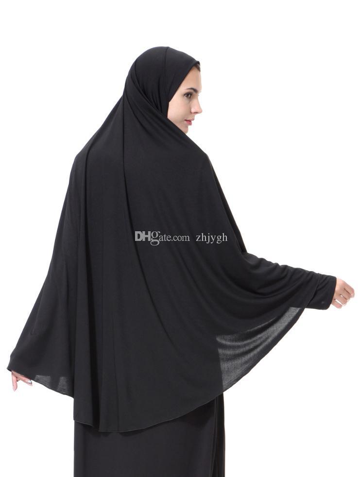 Sciarpe all'ingrosso, hijab musulmano arabo da donna, hijab nero, spedizione gratuita