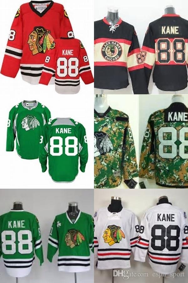 Hot Sale Mens Chicago Blackhawks 88 Patrick Kane Camo Red Black Green White  Best Quality Cheap 100% Embroidery Logo Ice Hockey Jerseys UK 2019 From ... 9543bfc09