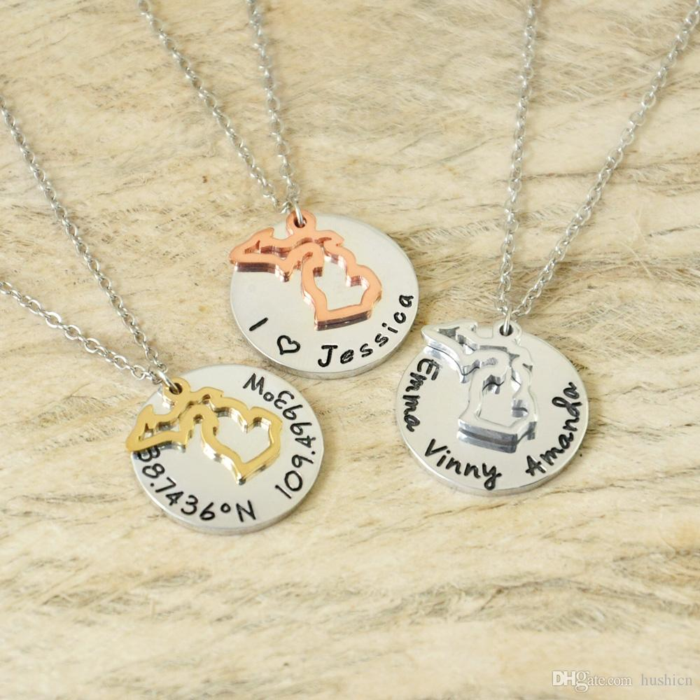personalized from for necklace with discs products women stamped hand disks