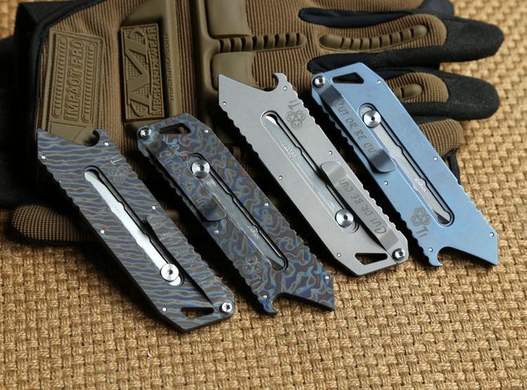 MG оригинальный резак для бумаги режущий нож Titanium G10 ручка Olfa лезвие из нержавеющей стали обрезка карманный открытый кемпинг ножи EDC инструмент