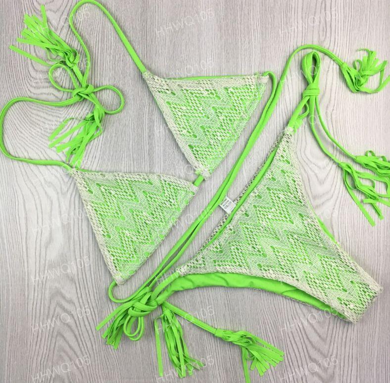 Сексуальный бразильский треугольник бикини установить Холтер спинки кружева бикини стринги купальник женщин розовый синий желтый Trikini пляжная одежда CCG0225