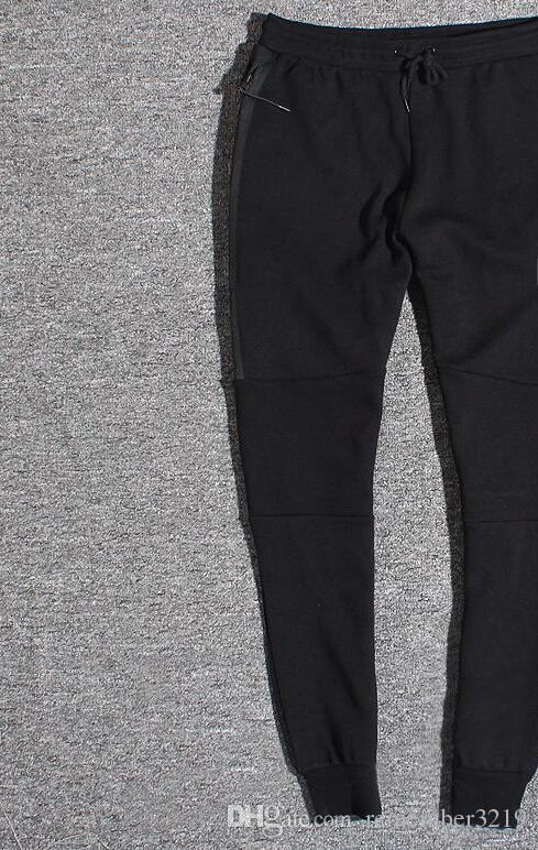 WINDRUNNER Tech Küre Tam Zip FLEECE siyah Erkekler pantolon Spor pantolon NO-668