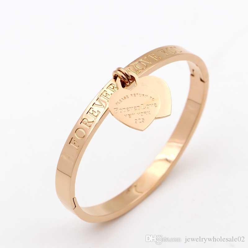 Nouveau design Design Love Bracelet Femmes En Acier Inoxydable Chiffres Romains Accessoires Bracelet Bracelets Pour Femmes Bijoux