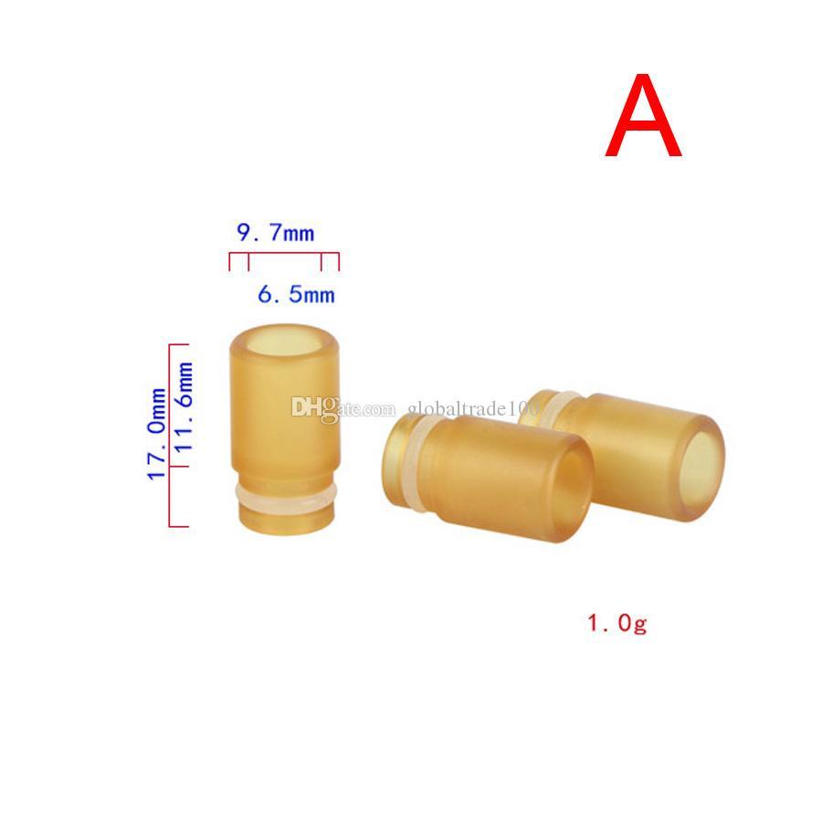 510 Puntas de goteo PEI Plástico Material respetuoso con el medio ambiente Punta de goteo de orificio ancho Para 510 Hilos Tanque RTA RBA RDA Atomizador