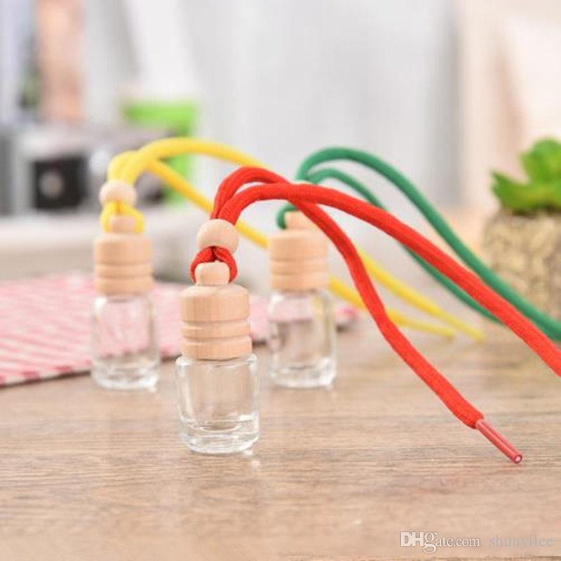 8ml Accessori auto Bottiglia di profumo in vetro Riutilizzabile Svuotamento automatico Volatilizzazione Ciondolo bottiglia a sospensione F20171235