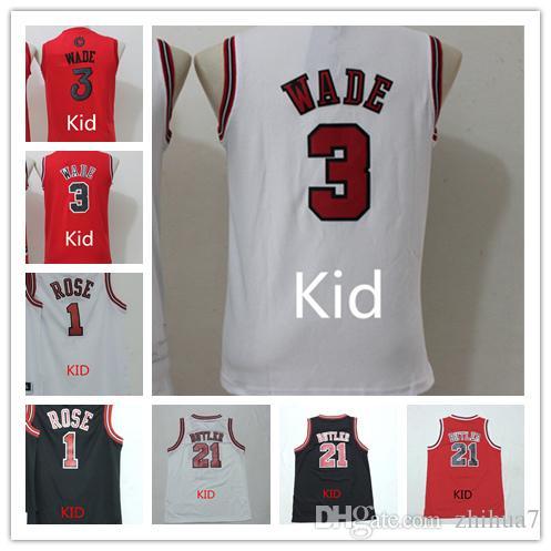 Christmas #3 Dwyane Wade Jersey Kids Wade Christmas Basketball ...